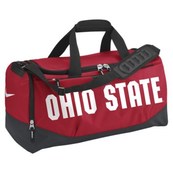 Nike Team Training Max Air (Ohio State) (Medium) Duffel Bag (Red)