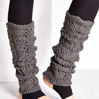 Loose Crochet Leg Warmer- Grey One