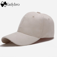Ladybro Hot Summer Winter Suede Cap Casual Women Cap Hat Pink Outdoor Sports Casquette Adjustable Baseball Cap Snapback Dad Hat