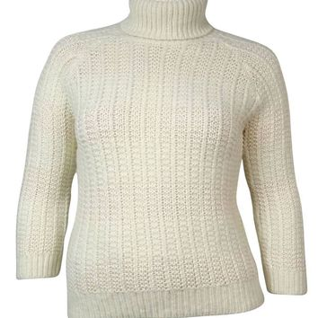 Lauren Ralph Lauren Women's Chunky-Knit Turtleneck Sweater