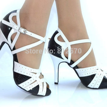dancing shoes for women zapatos de baile latino salsa shoes ladies Orange,White,Purple ballroom dance shoes XC-6354