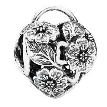 Authentic Pandora Jewelry - Floral Heart Padlock