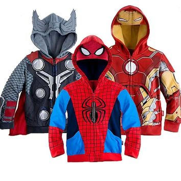 Boys Hoodies Avengers Marvel Superhero Sweatshirt