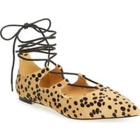Callisto 'Rian' Ghillie Lace Pointy Toe Flat (Women) | Nordstrom