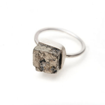 Pyrite Cube Ring -