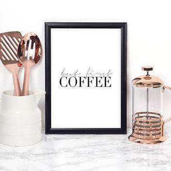 COFFEE BAR DECOR, Coffee Kitchen Decor,Modern Kitchen Art,Modern Print,Coffee Sign,Morning Quote,Inspirational Quote,But First Coffee,Quotes