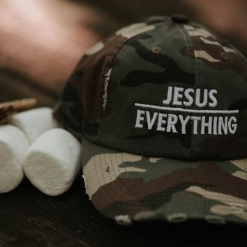 Jesus Over Everything Distressed Cap