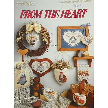 From The Heart - Counted Cross Stitch Leaflet - Leisure Arts
