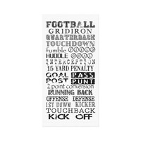 Football Subway Art Gallery Wrap Canvas from Zazzle.com