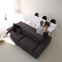 STEEL AND WOOD SOFA / TABLE ISOLAGIORNO™ EASY+SLIM | LAYOUT ISOLAGIORNO™ BY FARM