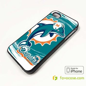 MIAMI DOLPHINS iPhone 4/4S 5/5S/SE 5C 6/6S 7 8 Plus X Case Cover