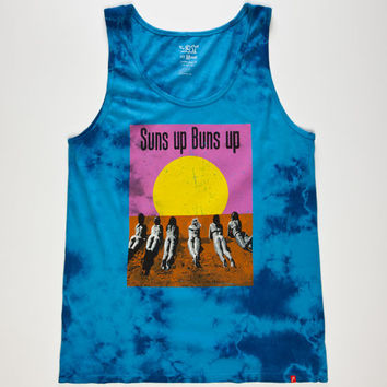 Lost Suns Up Buns Up Mens Tank Blue  In Sizes