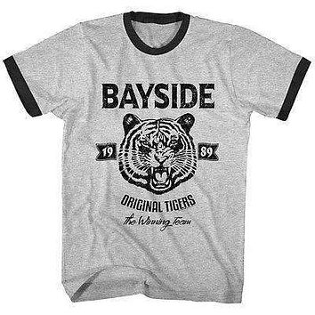 Mens Saved By The Bell Original Tigers Ringer T-Shirt
