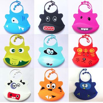 Baby bibs Cute Tablecloth waterproof Kid Infant Bibs Baby Soft Silicone Bib Waterproof Saliva Dripping Bibs Scarf for children