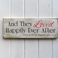 Hand Painted Personalized Wedding Sign