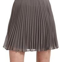 Halston Heritage - Short Pleated Skirt/Grey