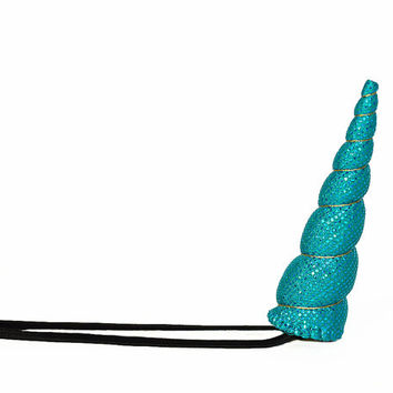 Aqua Sparkle Unicorn Horn