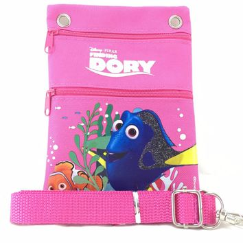 Disney Pixar Finding Dory Pink Supply Pouch w/Shoulder Strap & ID Holder