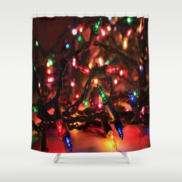 Just Lights Shower Curtain by Jessica Ivy