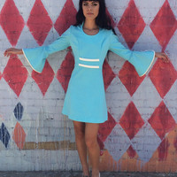 Amazing Vintage 1960s Mod Space Age Dress - Medium