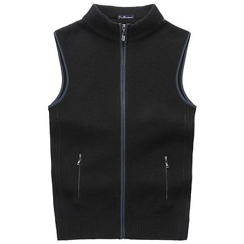 New Arrival Sweater Men Cardigan Vests Wool Vest Knitted Mens Cardigans Sleeveless Add Velvet Size XXXL