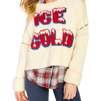 Freezin' Ice Cold Chunky Knit Sweater