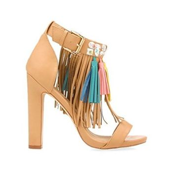 Privileged Shoes Privileged Bossy Tassel Front Heel