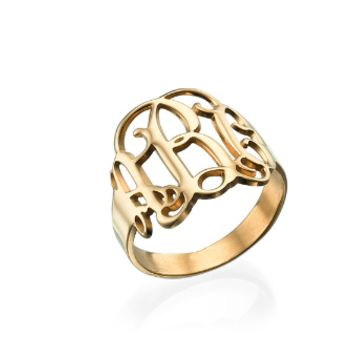 Script Monogram Ring - Gold
