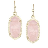 Dani Earrings in Rose Quartz - Kendra Scott Jewelry