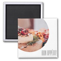 Bon Appetit Cheese Platter Food Magnet