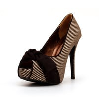 Checkered Peep Toe Shoes, Checkered Heels, Black Checkered High Heel Pumps, High Heels.