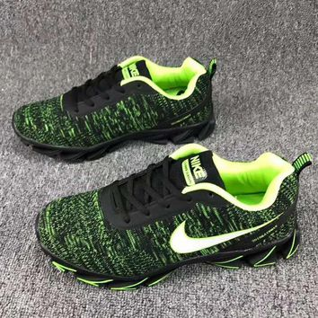 Nike Women Trending Casual Sneakers Running Sports Shoes Green G-CSXY