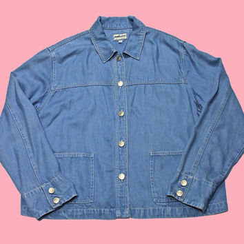Vintage Pendleton Denim Button Up Shirt Womens Size XL