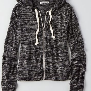 AEO Women's Space-dyed Zip Hoodie