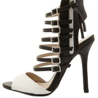 Super Strappy Two-Tone Heels by Charlotte Russe