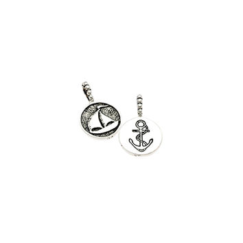Come Sail Away Sailboat/Anchor Sterling Silver Charm