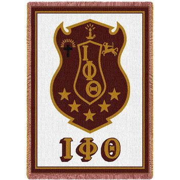 IOTA PHI THETA AFGHAN THROW BLANKET