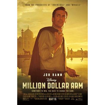 Million Dollar Arm poster Metal Sign Wall Art 8in x 12in