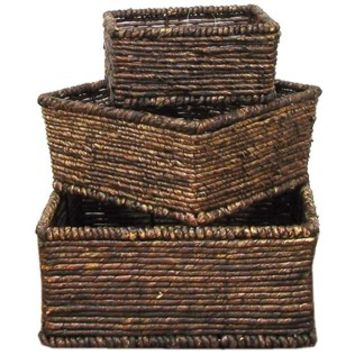 Dark Brown Square Maize Basket Set | Shop Hobby Lobby