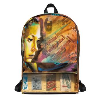 Woman Face Art Backpack