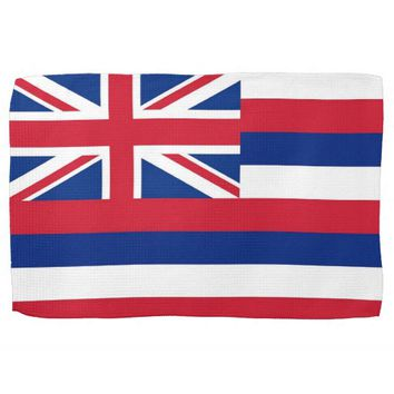 Kitchen towel with Flag of Hawaii, U.S.A.