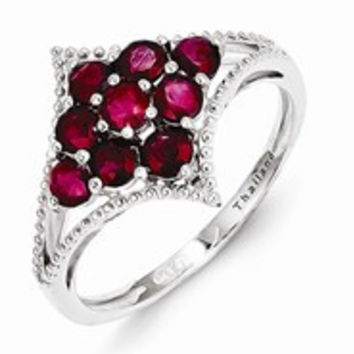 Sterling Silver African Ruby Ring