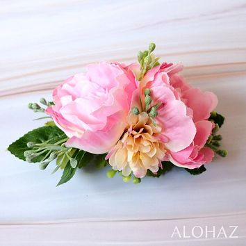 Pink Precious Hawaiian Flower Hair Clip