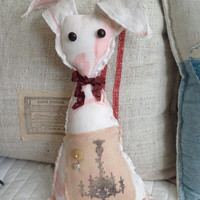 Old world Easter bunny, easter bunny, farmhouse bunny, shabby chic easter bunny