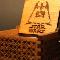 Engraved  wooden music box Star Wars  Main Theme by InvenioCrafts