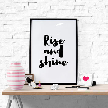 Rise and Shine, Printable Bible Verse Printable Quote Printable Art Motivational Quote Office Decor Inspirational Print