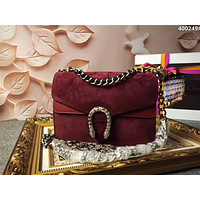 GUCCI WOMEN'S CLASSIC SUEDE LEATHER CHAIN SHOULDER BAG