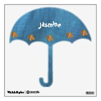 fun kids name umbrella room graphic