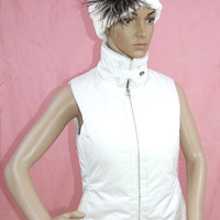 Banana Republic White Winter Puffer Vest
