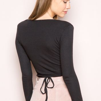 RUTH WRAP TOP
